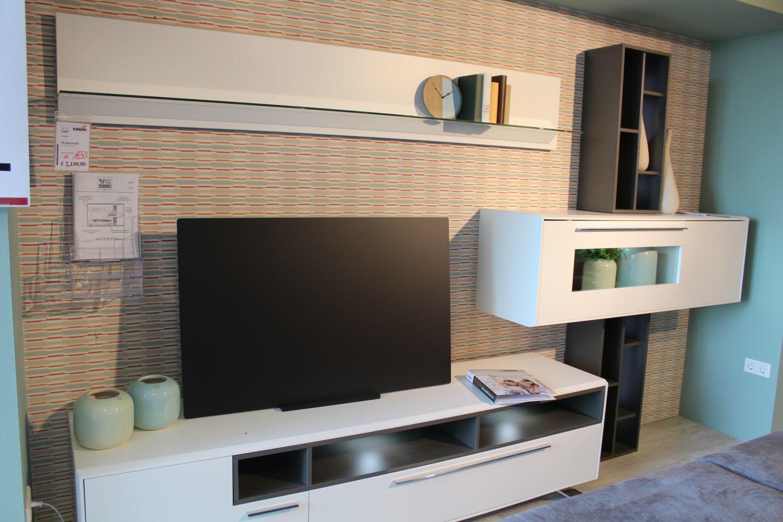 Wohnzimmer wohnwand weiß  weiße wohnwände & schrankwände günstig online kaufen | ladenzeile ...