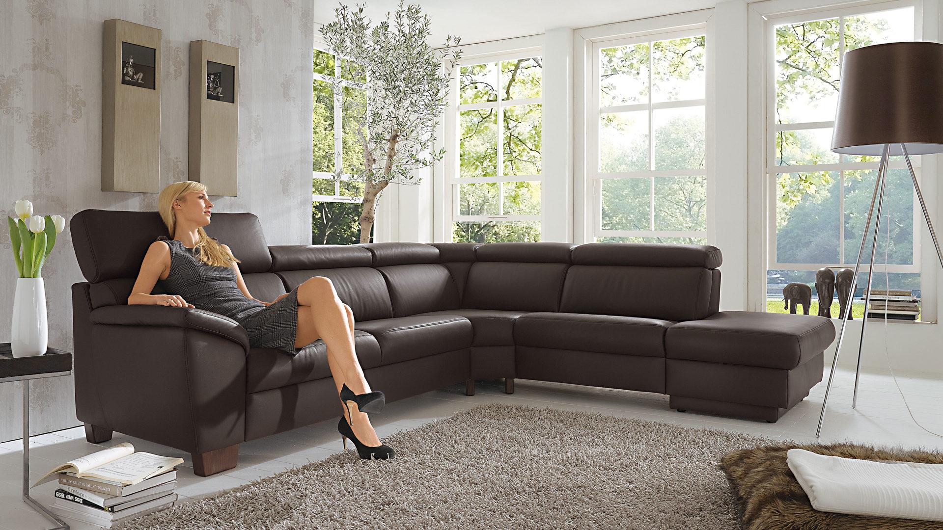 möbel eilers apen | räume | wohnzimmer | sofas + couches ... - Wohnzimmer Sofa Braun