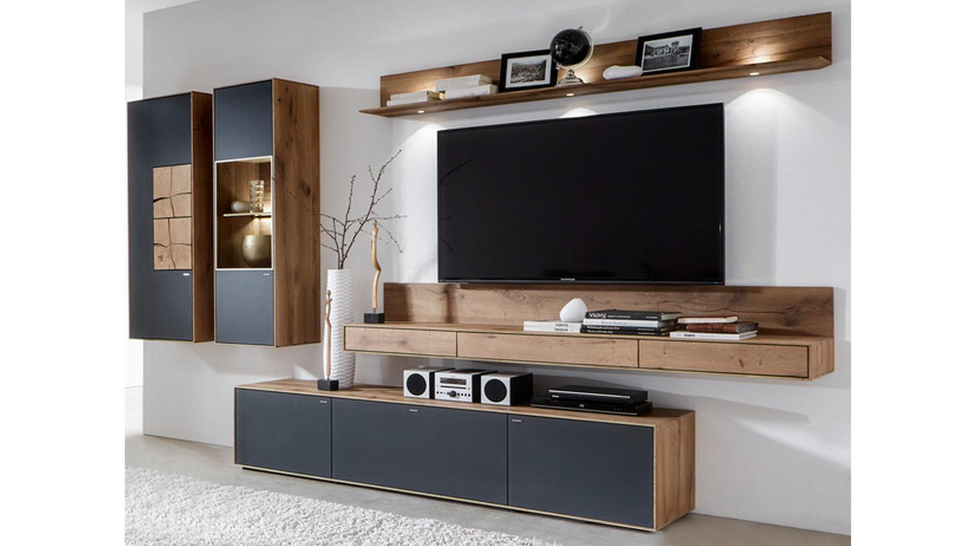 möbel eilers apen | räume | wohnzimmer | schränke + wohnwände ... - Wohnzimmer Eiche Grau